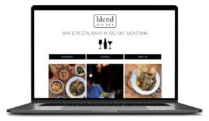 Blend Big Sky Restaurant website