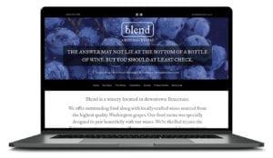Blend Bozeman Winery Website
