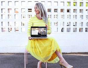 Sonia Williamson showing website design work
