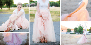 Collage of girl in Tulle skirt in Reno