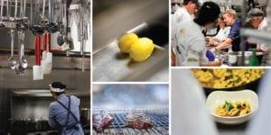 Collage of kitchen prep shots