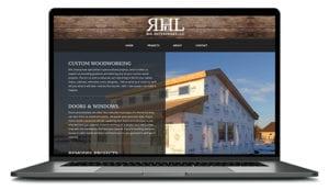 RHL Enterprises website shown on computer