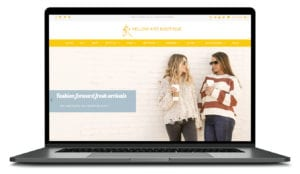 Yellow Kiss Clothing Boutique Web design in Shopify